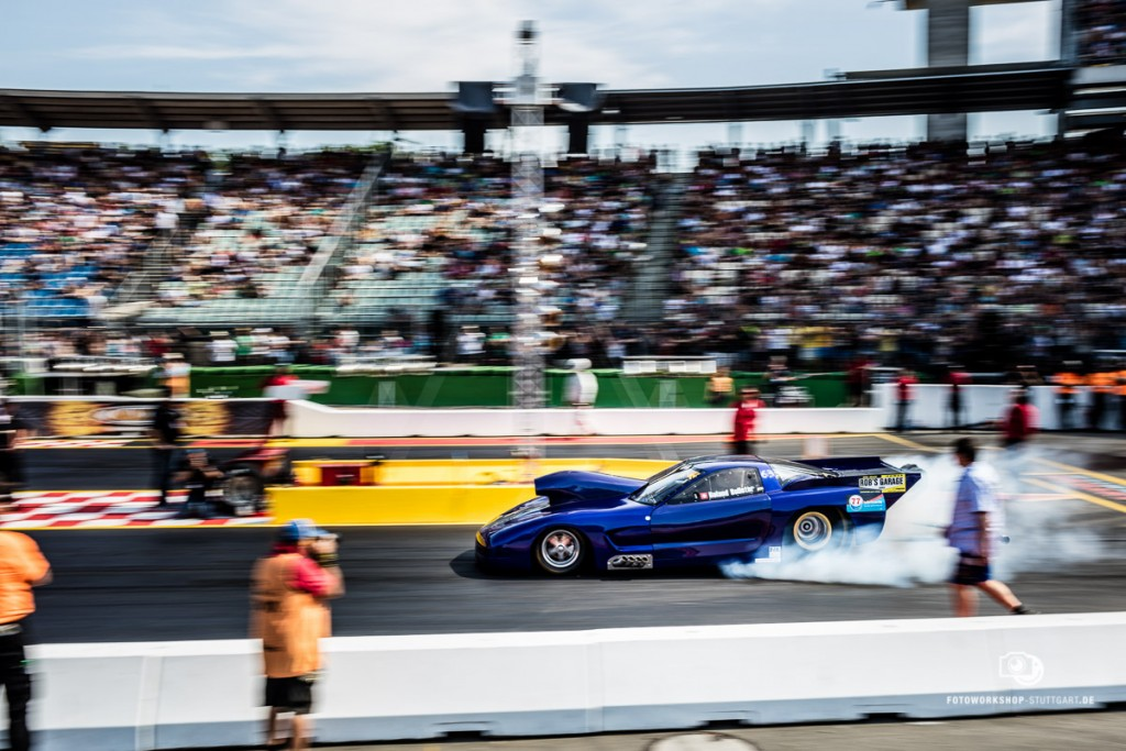 Start eines Dragsters am Hockenheimring