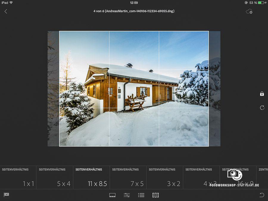 Bildbeschnitt mit Lightroom Mobile
