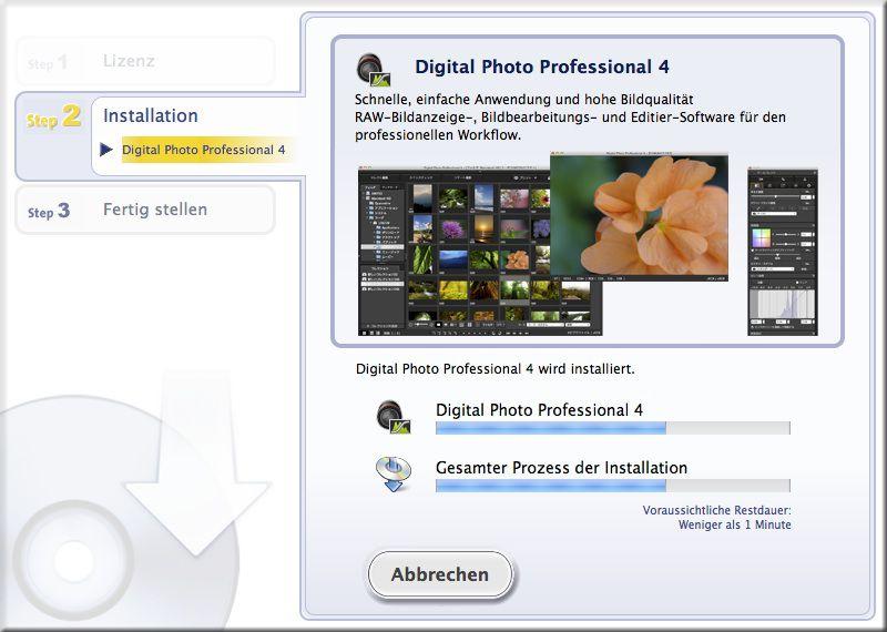 Installation Canon DPP 4.0 auf Mac OSX