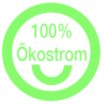 100% Ökostrom: Alle Server, PCs, Laptops, Kameras, eBikes etc