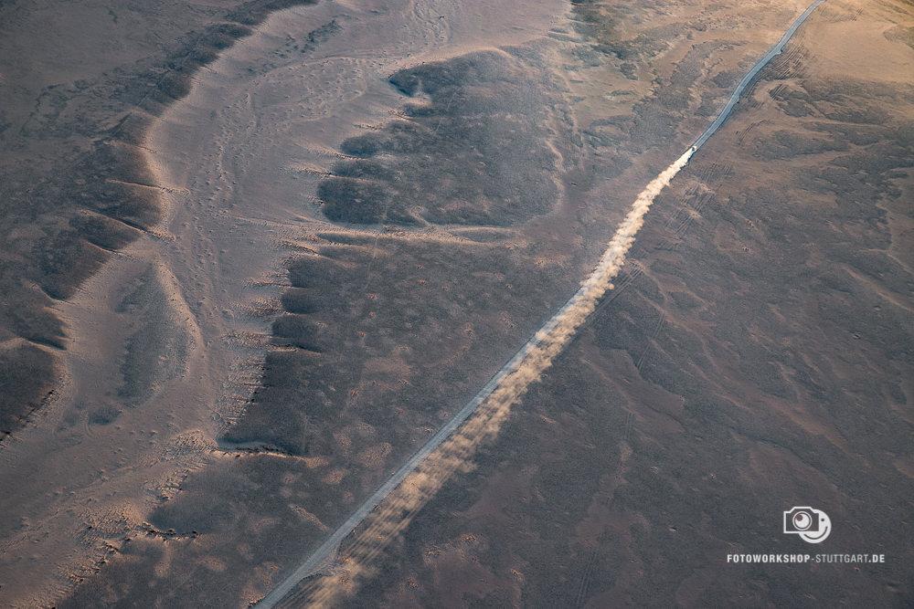After-Wüste von oben