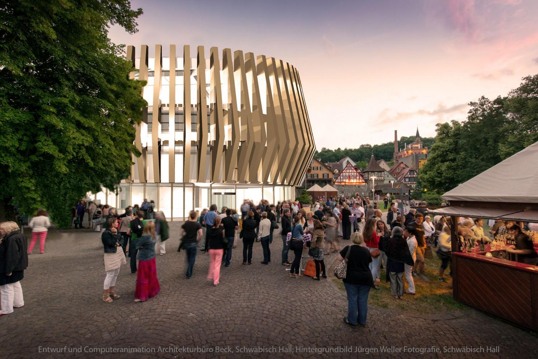 Bildmontage Architektur. Entwurf: www.architekt-beck.de
