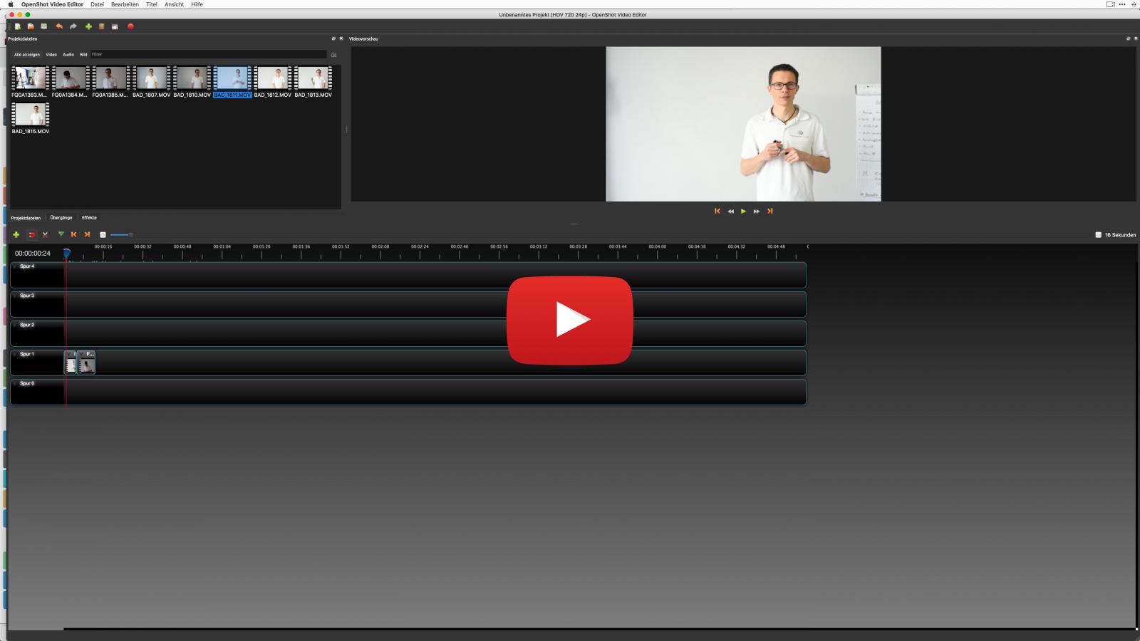 openshot software fuer videoschnitt