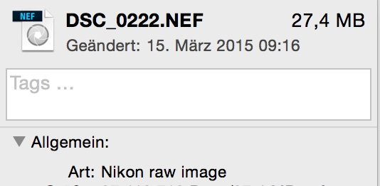 NEF Nikon Komprimierung oder nicht?
