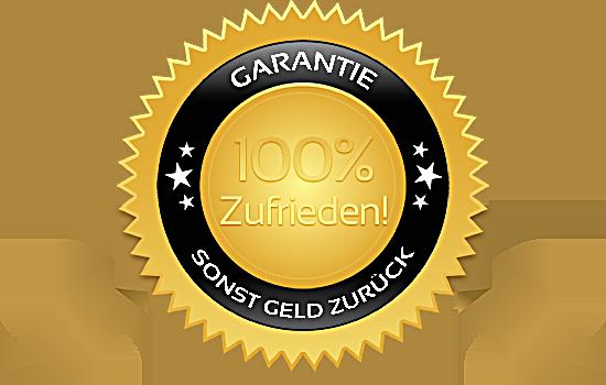 Zufriedenheitsgarantie - 100% zufrieden, sonst Geld zurück!